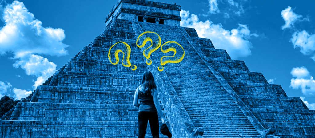 is being a digital nomad worth it? - girl standing in front of chichen itza pyramid
